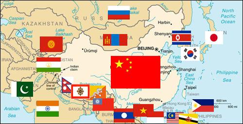 El complejo y variado panorama de China en Asia.
