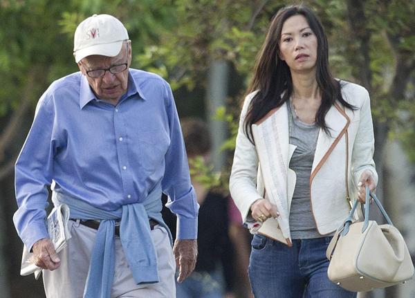 La pareja Rupert Murdoch - Wendi Deng