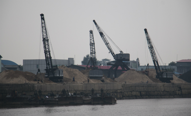 Zona industrial de Sinouju, en la frontera con China (FOTO: Daniel Méndez)