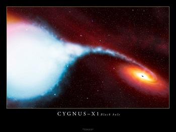 「はくちょう座X-1」の想像図(ESAより)。(画像:広島大学発表資料より)