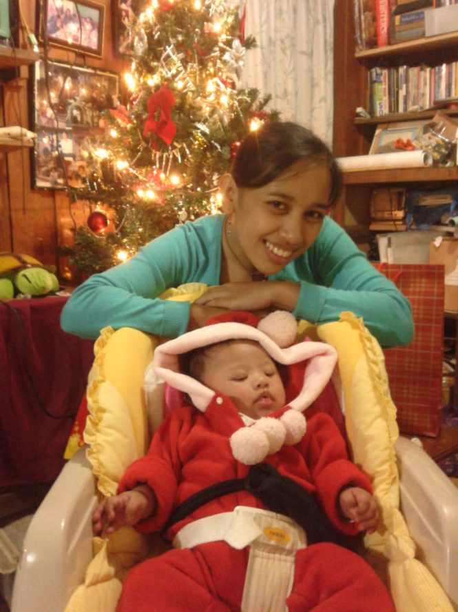 with my little santa