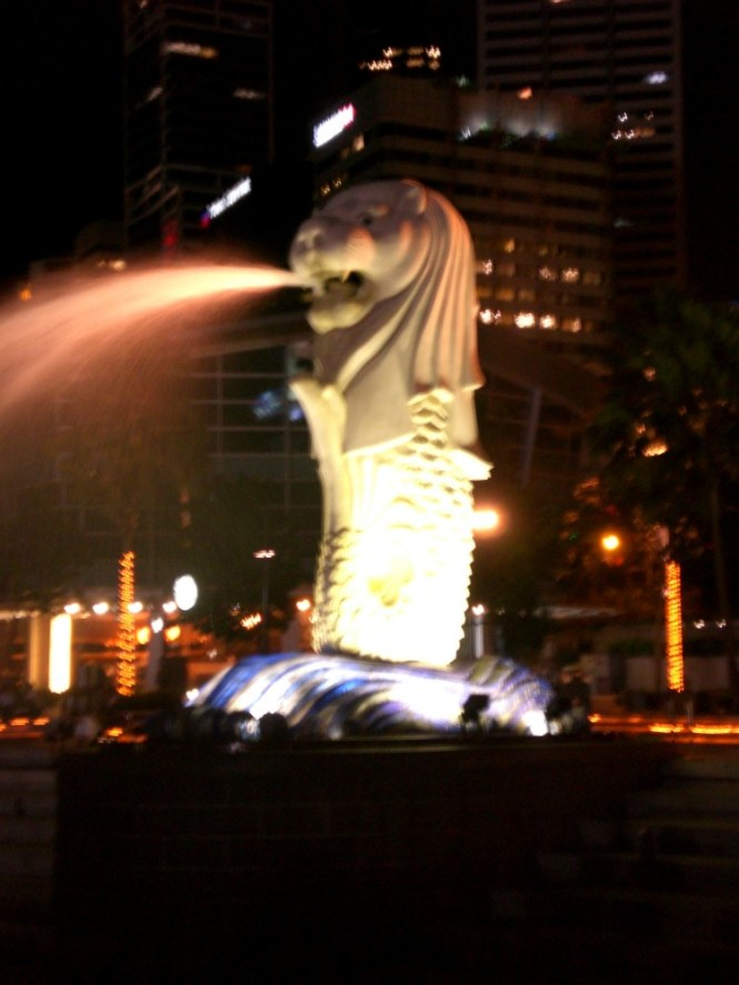 The Merlion at Singapore