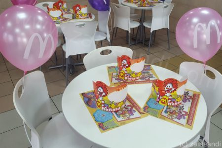 mcdonalds mccelebrations table setup