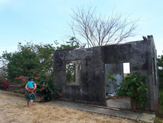 cape bolinao lighthouse ruins side building