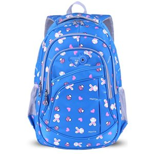 Ankoee Zaino Scuola Bambina Elementare Zaino Borsa Backpack Zainetto Zaini Scolastici Zainetti Per Bambini Ragazza Blu 0