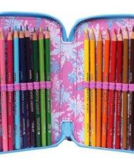 Astuccio Frozen 3 Scomparti Poliestere Multicolore 0 4