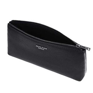 Berliner Bags Luxus Anna Astuccio In Pelle Per Cosmetici Portapenne Astuccio In Vera Pelle Per Uomo E Donna Nero Piccolo S 0