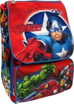 Capitan America Zaino Scuola Estensibile Originale Avengers Prodotto Ufficiale Marvel 0