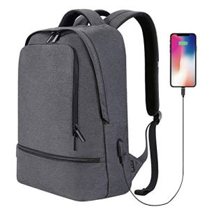 Reyleo Zaino Per Pc Laptop Portatile Backpack Con Porta Usb Casual Impermeabile Unisex Per La Scuola E Il Lavoro Fino A 30l Grigio Versione Aggiornata 0