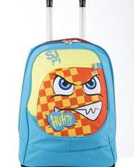 Trolley Big Sj Faccine Azzurro Arancione Giallo 31 Lt Uso Zaino Spallacci A Scomparsa Totale Scuola E Viaggio 0 4
