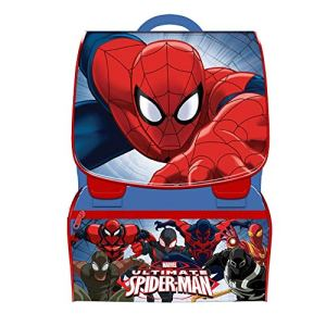 Trade Shop Traesio Kit Scuola School Pack Zaino Estensibile Astuccio 3 Zip Marvel Spiderman 0