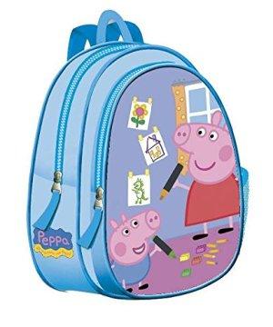 Zaino Asilo Peppa Pig Blu 33cm 0