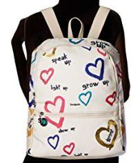 Desigual Bag Natural Message Novara Women Borse A Zainetto Donna Bianco Crudo 12x353x287 Cm B X H T 0 2