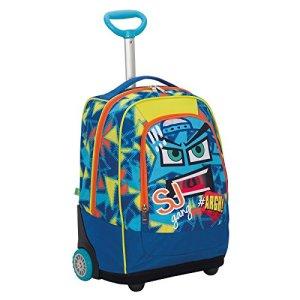 Big Trolley Sj Face Boy Blu 33 Lt 2in1 Zaino Con Spallacci A Scomparsa Scuola Viaggio 0