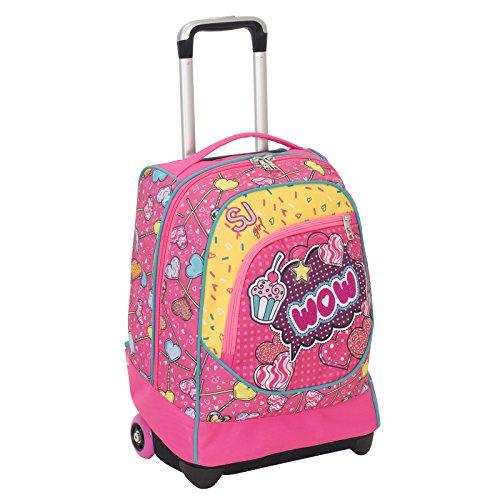Maxi Trolley Sj Gang Girl Rosa Scuola 0