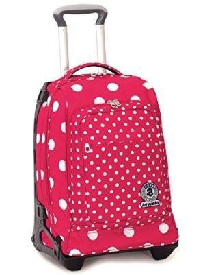 Trolley Tech Invicta Micro Macro Dots Rosa Pois 34 Lt 2in1 Zaino Sganciabile Scuola Viaggio 0