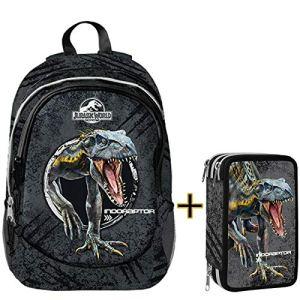 Jurassic World Schoolpack Astuccio 3 Zip Completo Di Cancelleria Zaino Estensibile 3 Cerniere Collezione Scuola 2019 20 0