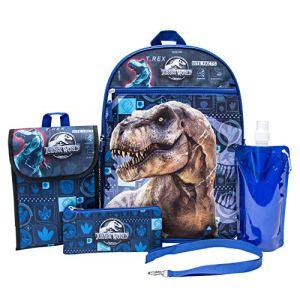 Jurassic World Set Zaino Jurassic Park Da Ragazzo 6 Pezzi Zaino Jurassic World E Kit Per Il Pranzo Nero Nero 0