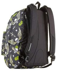 Zaino Reversibile The Double Skull Boy Nero Con Cuffie Stereo Soft Touch 27 Lt 2in1 Scuola Tempo Libero 0 2