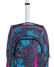 Trolley Fit Seven Colorflower Nero 35 Lt 2in1 Zaino Con Sollevamento Spallacci Per Uso Trolley Scuola Viaggio 0 4