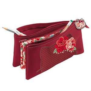 Giochi Preziosi Hello Kitty Passion Roses Astuccio Bustina Con Tre Cerniere Con Swarovski 22 Cm Bordeaux 0