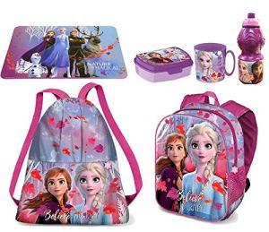 Set Zainetto Zaino In 3d Frozen Believe Anna Elsa Disney Sacca Sport Porta Merenda Scuola Asilo Tempo Libero 0