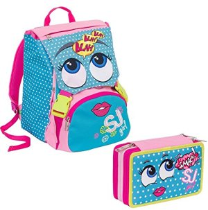 Schoolpack Girl Sjgang Azzurro 0