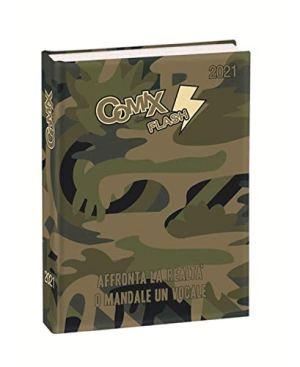 Diario Scuola Comix Flash Verde Militare 2020 2021 Fto Standard 18x14cm Omaggio Portachiave Fischietto Penna Colorata Segnalibro 0
