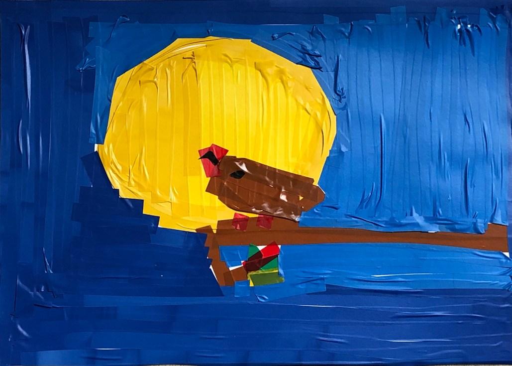 Likovni tečaji za otroke - delo Maše, tape art.