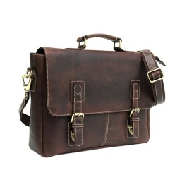 Genuine Vintage Leather Laptop Portfolio Bag