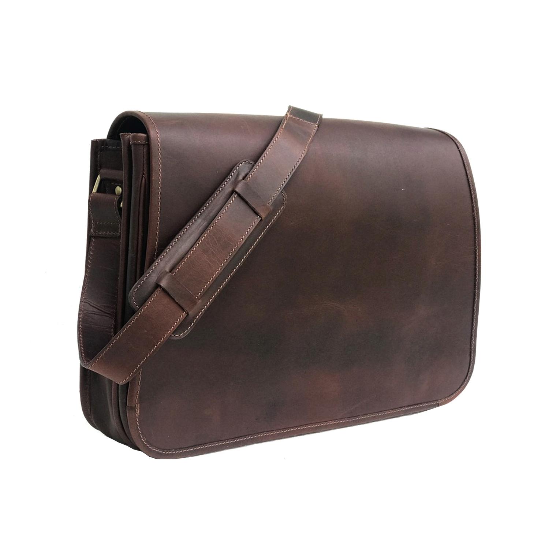 Zakara Leather Messenger Bag