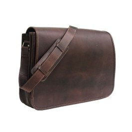 Zakara Leather Messenger Bag