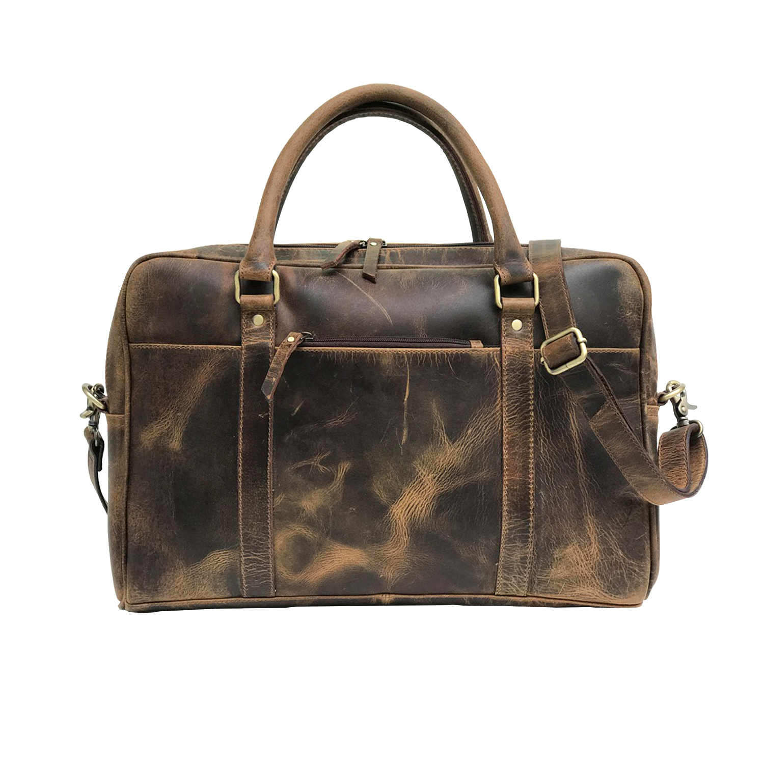 Zakara Leather Laptop Portfolio Bag
