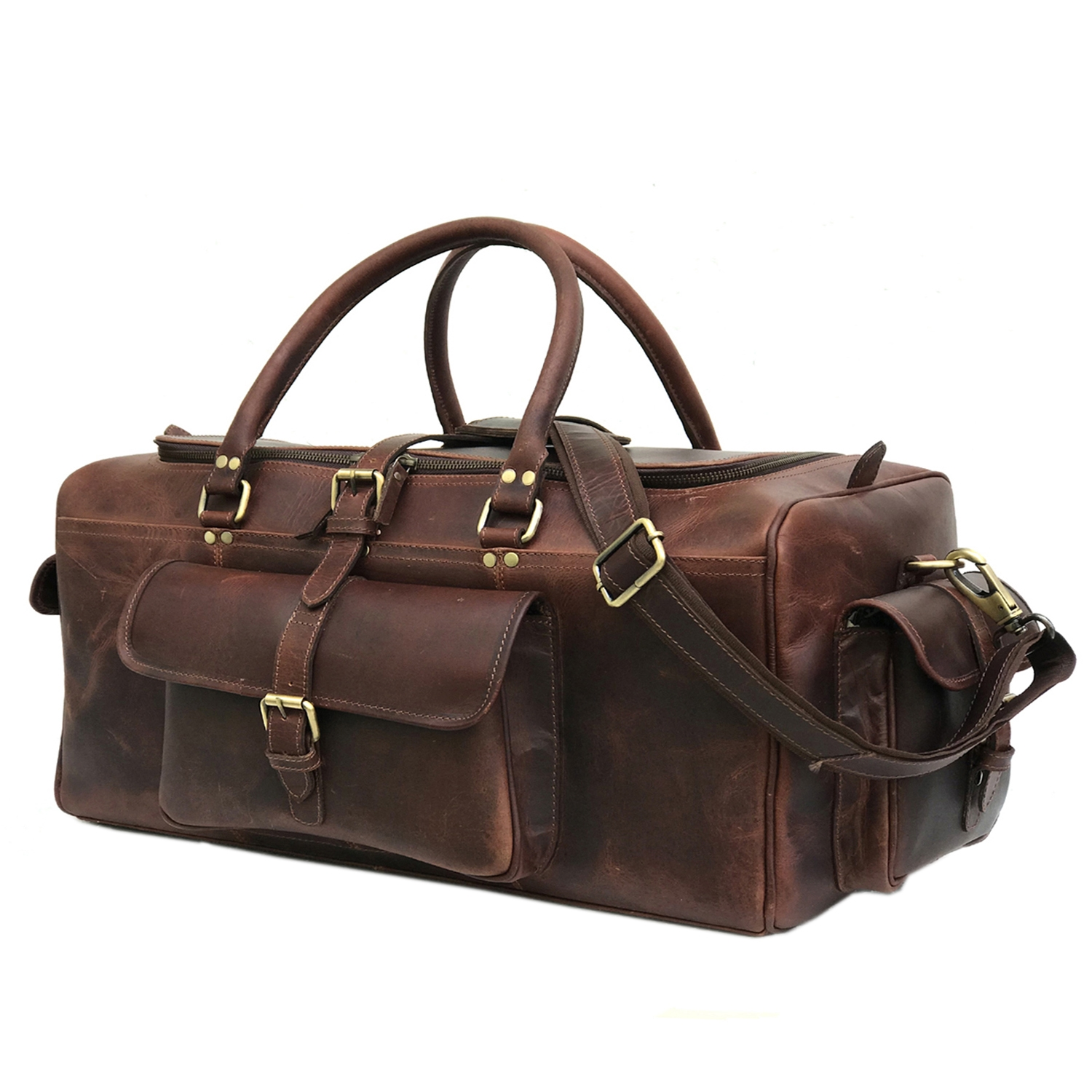 Zakara Leather Overnight Travel Bag