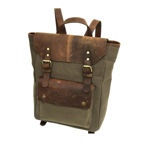Zakara Canvas Leather Travel Bag
