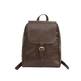 Genuine Buffalo Leather Backpack In Large Size