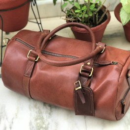 100% Genuine Buffalo Leather Gym Bag