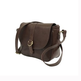 Dark Brown Leather Sling Bag