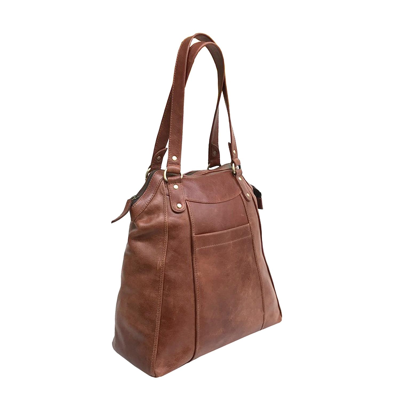 Zakara Leather Large Tote Bag
