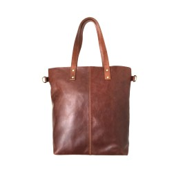 Genuine Reddish Brown Leather Women's Tote Bag