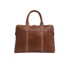 Brown Genuine Leather Laptop Sleeve