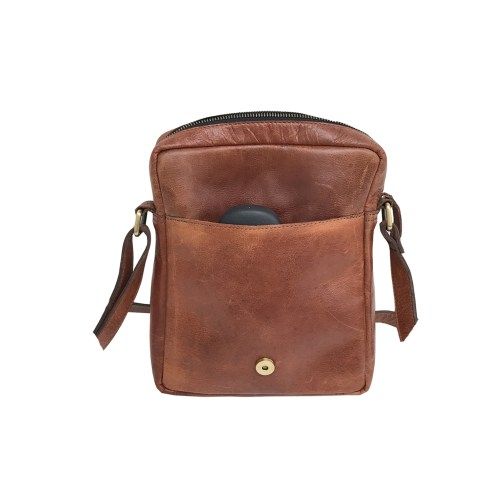 Zakara Leather Sling Satchel