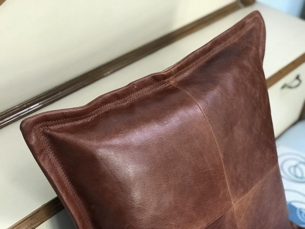 Zakara Leather Cushion Cover