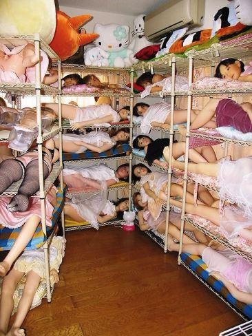 poupee gonflable dortoir