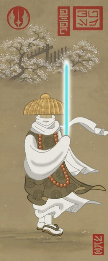 estampe japonaise starwars obiwan kenobi