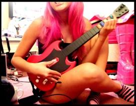 guitar hero sexy pink