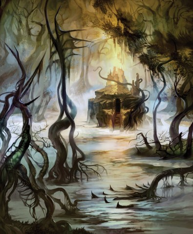 magic illustration Lands of Zendikar Swamp