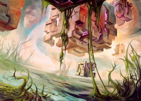 magic illustration Rise of Eldrazi Swamp 1