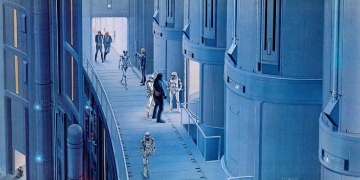 star wars concept-ralph mcquarrie-chewbacca prisonnier ian