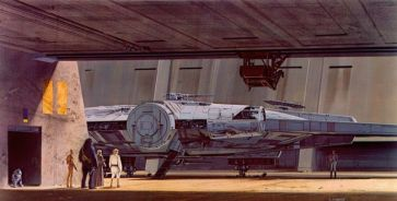 star wars concept-ralph mcquarrie-faucon